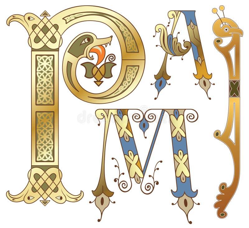 Initials. Capitals and initials of the ancient manuscripts