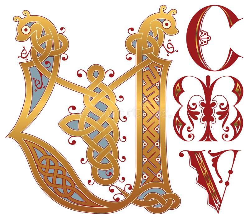 Initials vector illustration