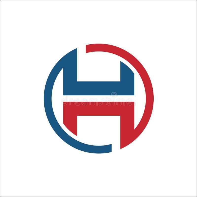 Initials H circle abstract logo vector royalty free illustration