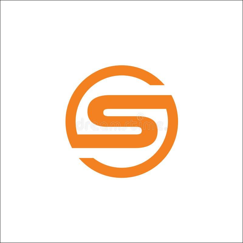 Initials S circle logo vector abstract royalty free illustration