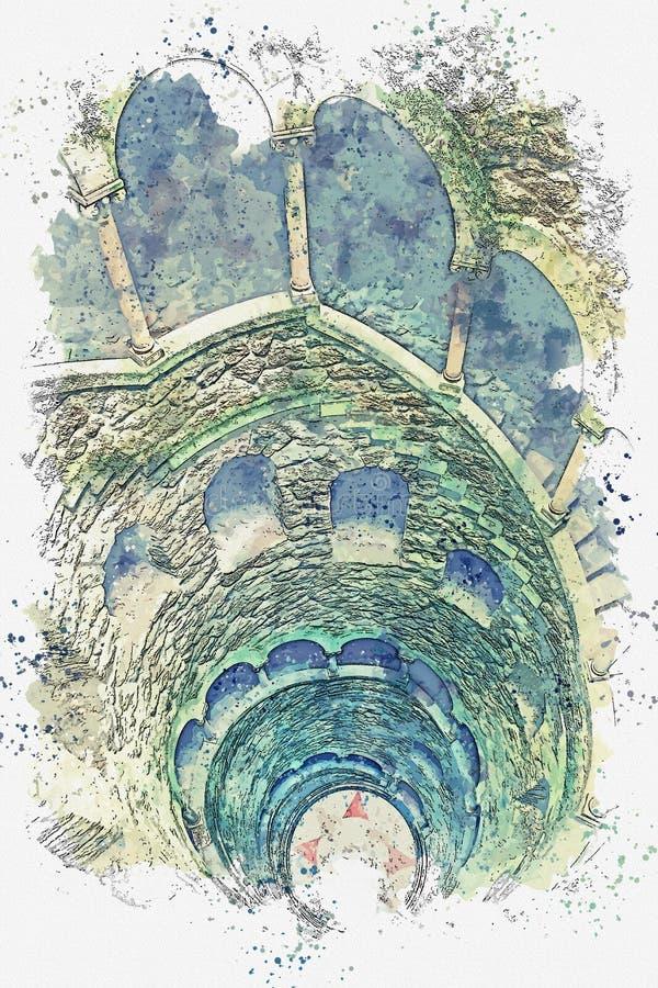 Initiatic хорошо в Sintra бесплатная иллюстрация