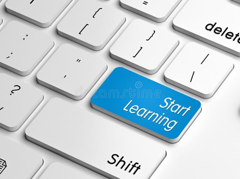 Inizi ad imparare illustrazione di stock