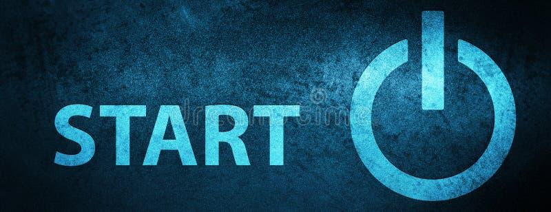 Inizi (icona di potere) il fondo blu speciale dell'insegna illustrazione vettoriale