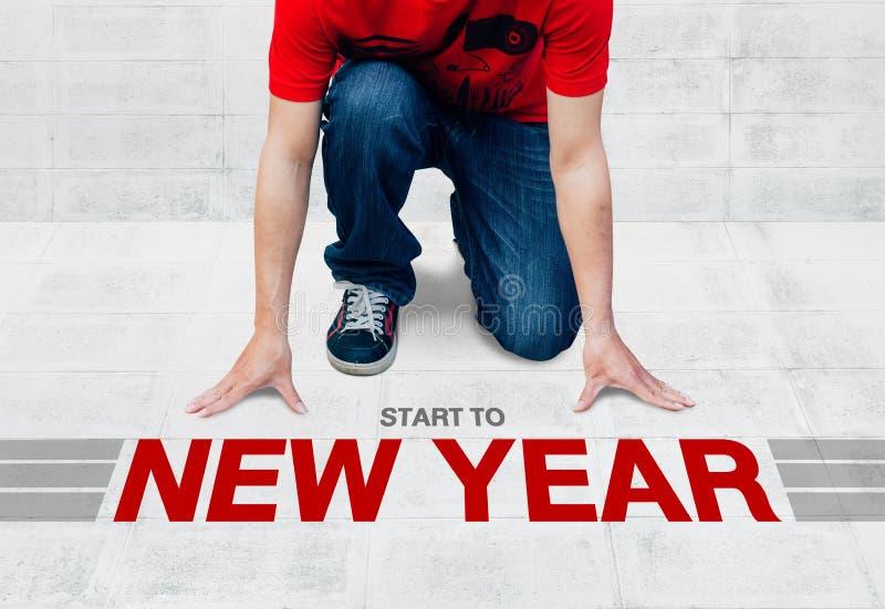 Inizi il funzionamento al nuovo anno, pronto cominci ad attività o ad azienda fotografia stock