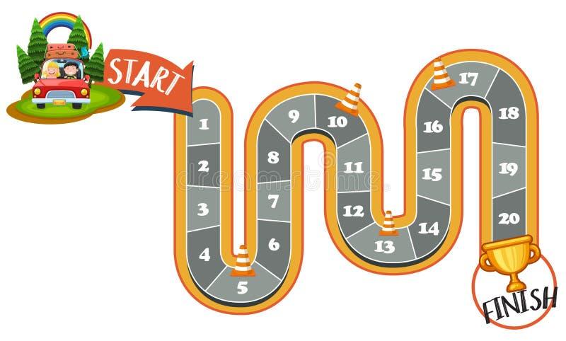 Inizi il gioco da tavolo del labirinto di rivestimento illustrazione vettoriale
