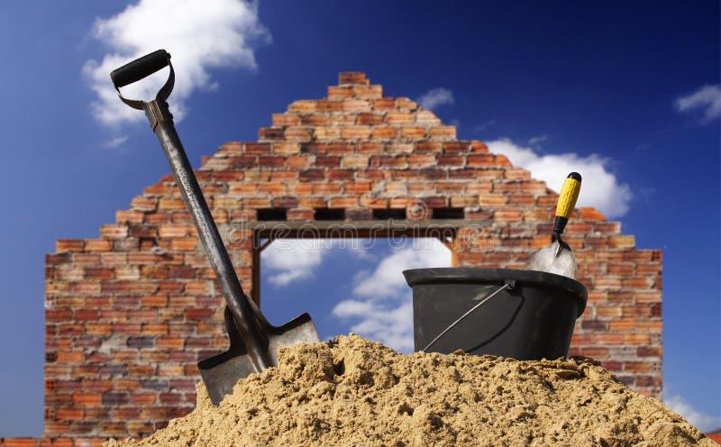 Inizi la casa della costruzione fotografia stock