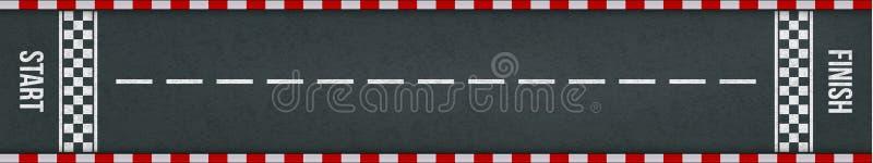 Inizi la pista di corsa di rivestimento con la marcatura di vettore illustrazione vettoriale
