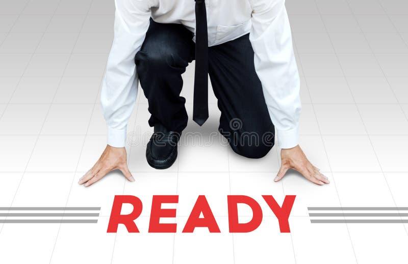 Inizi a lavorare, pronto cominci ad attività o all'affare immagini stock