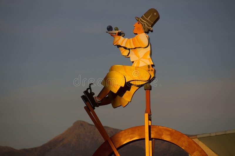 Inizio del carnevale di Viareggio, Toscana immagine stock