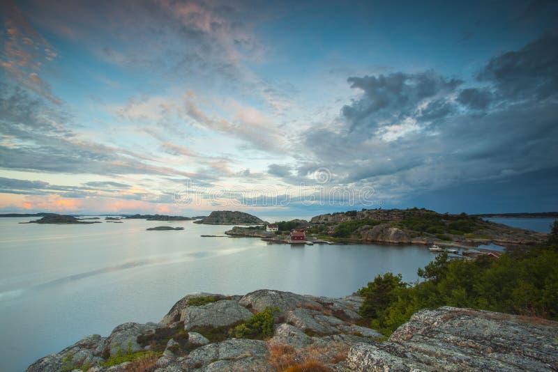 Inizio del Oslofjord visto dal lato svedese immagine stock