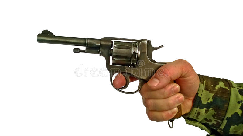 Inizio di produzione di vecchia pistola del colpo immagine stock libera da diritti