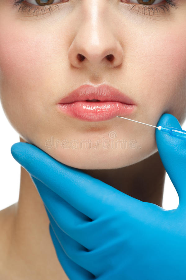 Injeção cosmética do botox foto de stock royalty free