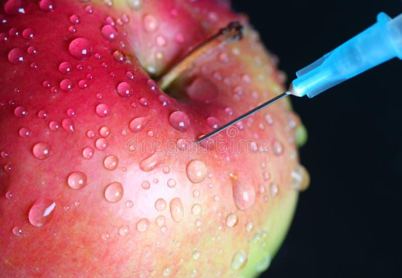 Injeção de Apple. foto de stock