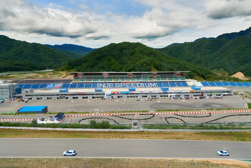 Inje Speedium racing circuit in Korea royalty free stock photos
