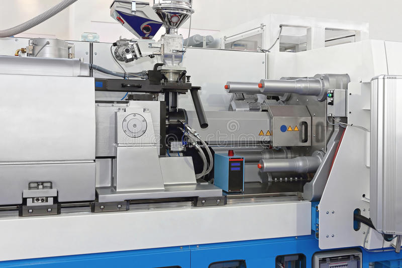 Injectie het vormen machine stock foto
