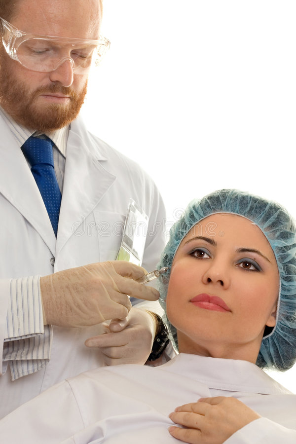 Injection de BOTOX® photo libre de droits