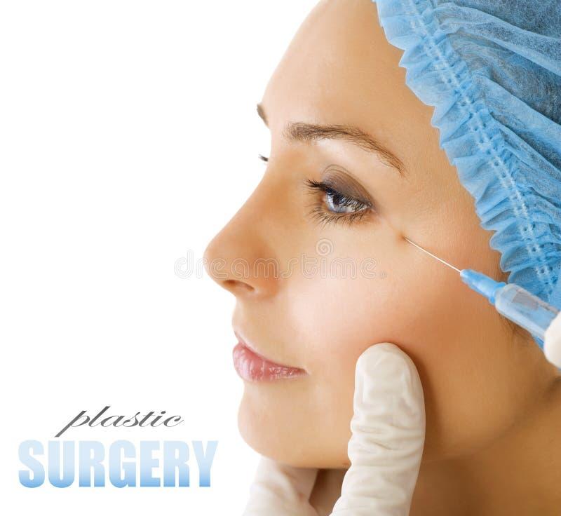 Injection de Botox. Chirurgie plastique images libres de droits