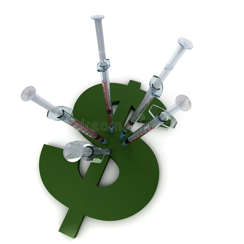 Injection du dollar illustration libre de droits