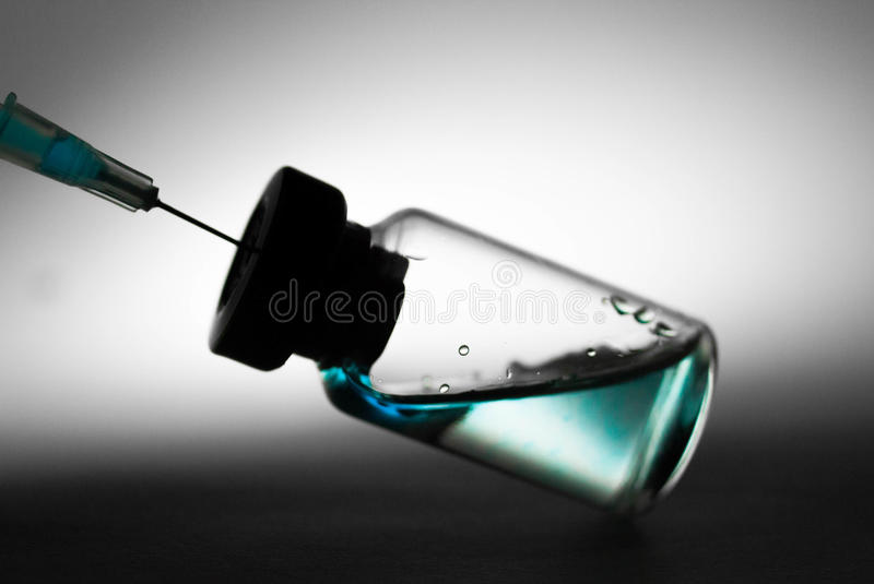Injection vaccinique photographie stock