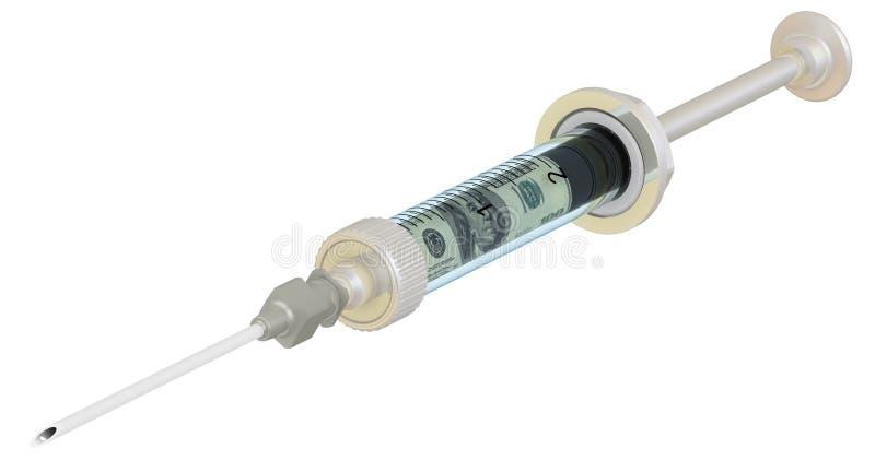 Injections financières Concept illustration libre de droits