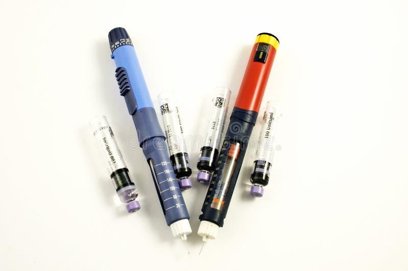 injektionpennor fotografering för bildbyråer