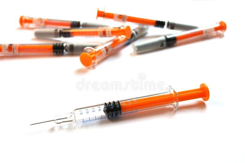 injektionssprutor royaltyfria bilder