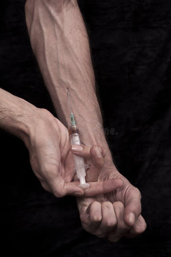 Injetando Drogas Imagens de Stock