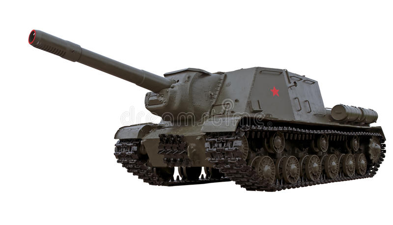 Injetor automotor soviético legendário ISU-152 imagem de stock royalty free