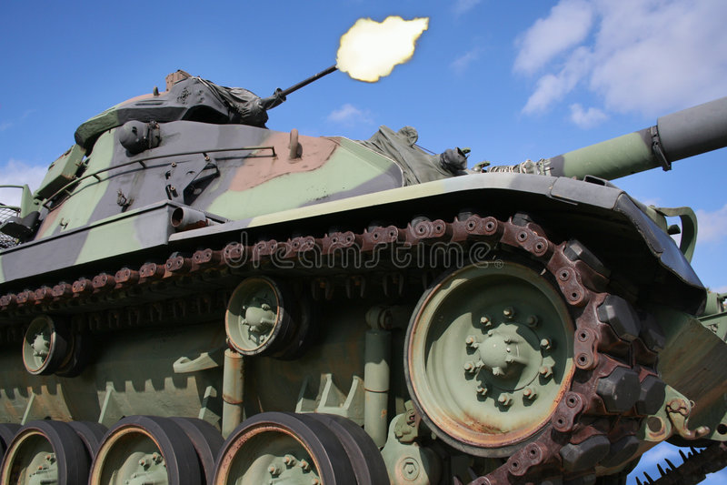 Injetor do despedimento do tanque de exército fotos de stock