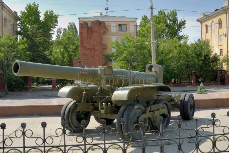 injetor do exército do Grande-calibre - o Howitzer. fotografia de stock royalty free