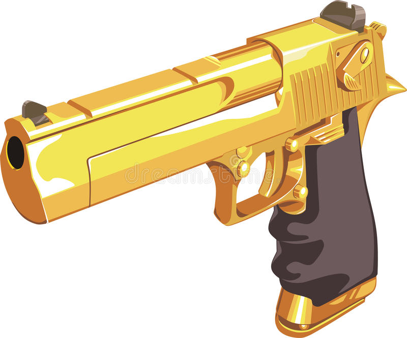 Injetor do ouro ilustração do vetor