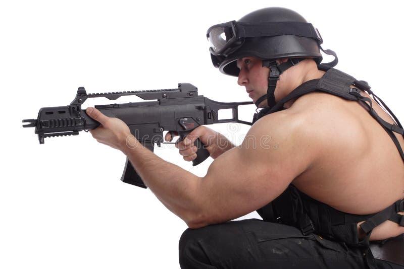 Injetor do soldado fotografia de stock