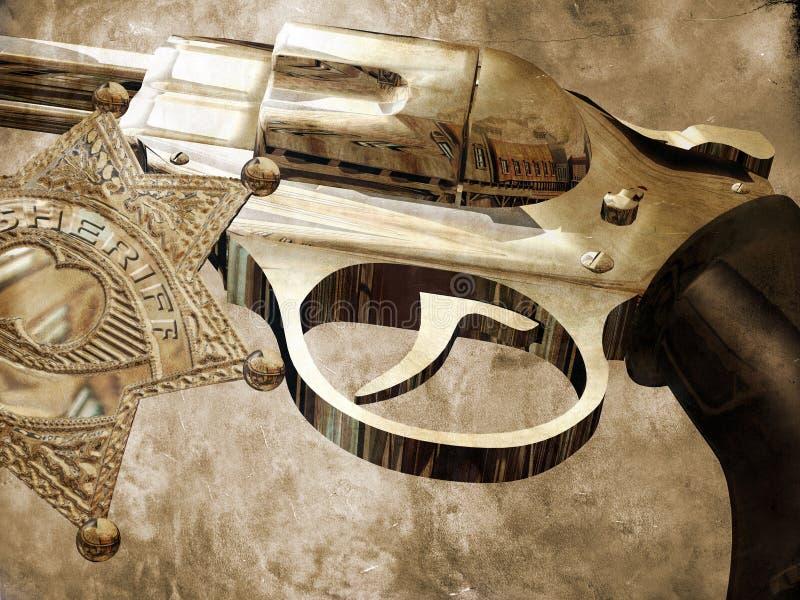 Injetor do xerife ilustração do vetor