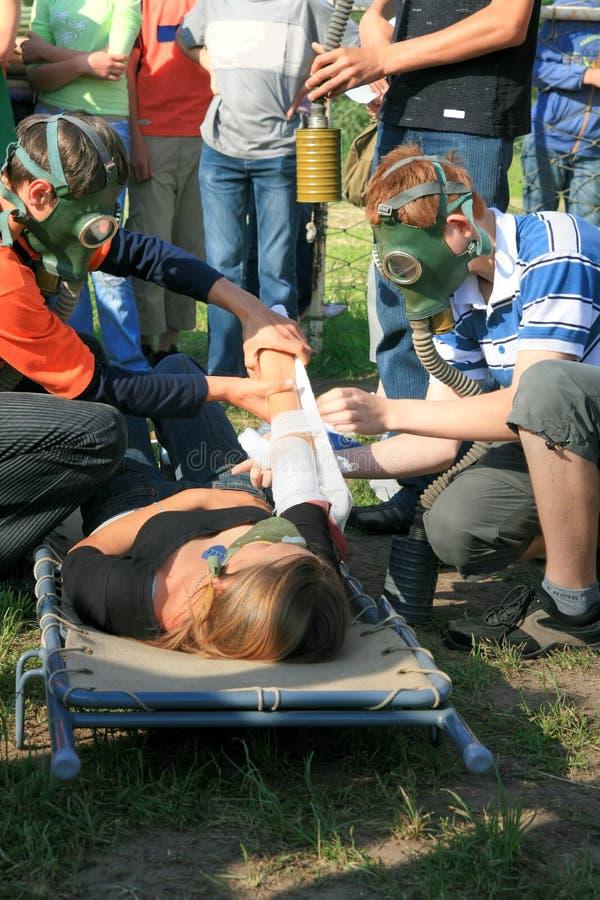 Injured royalty free stock photo
