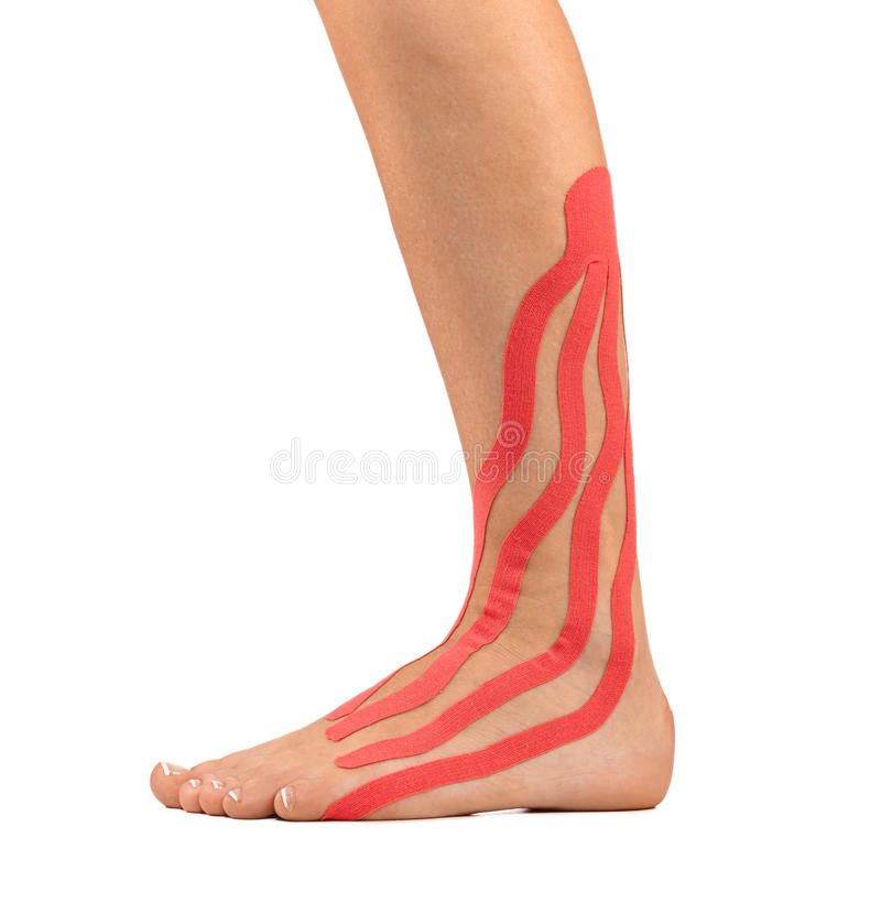 Injured ankle stock photos