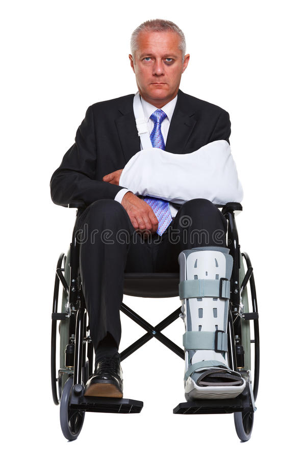 Download Injured Businessman In A Wheelchair Isolated Stock Photo - Image: 20423264