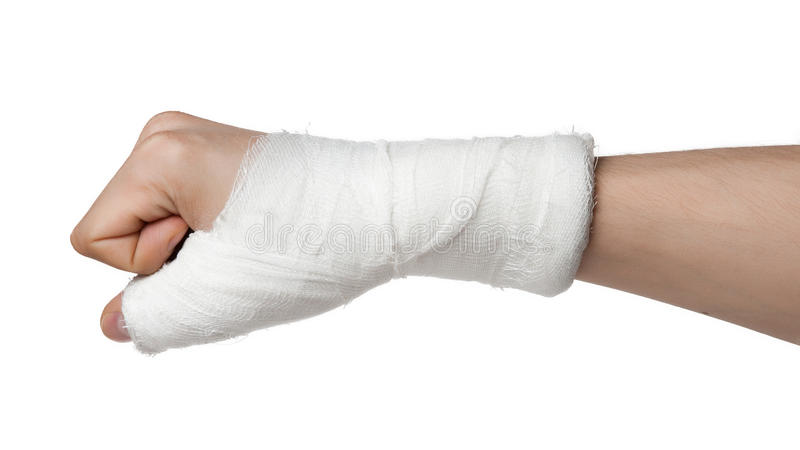 Injured Finger Royalty Free Stock Photos