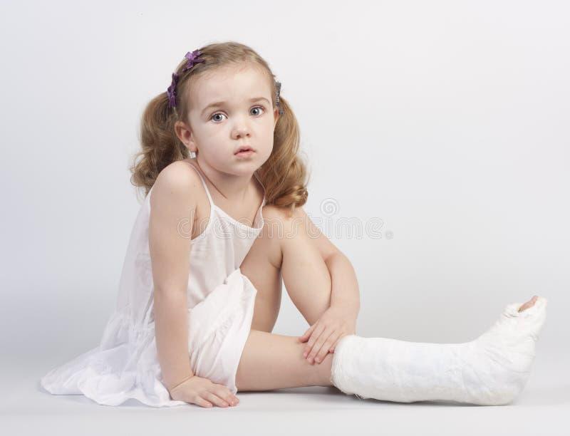 Injured girl royalty free stock image