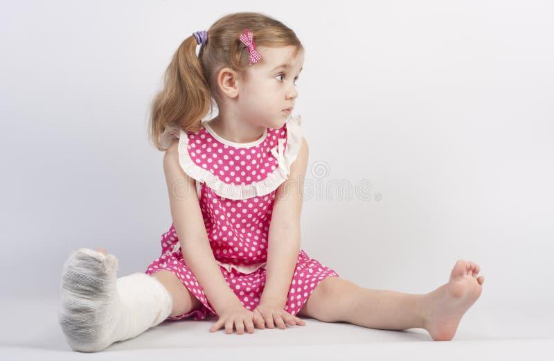 Injured girl stock photography