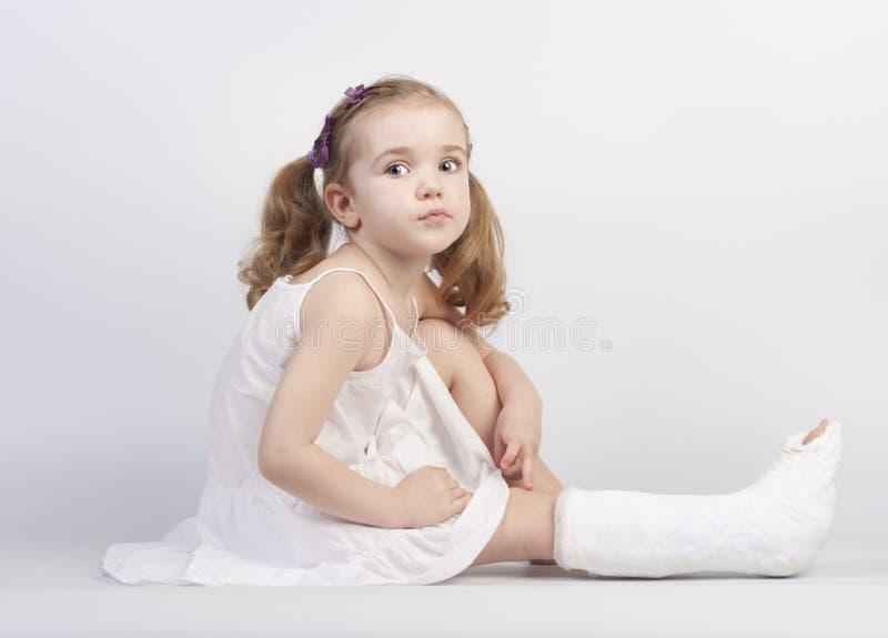 Injured girl royalty free stock photography