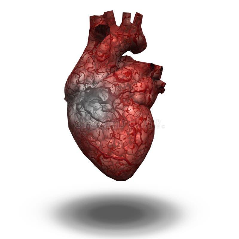 Injured Heart stock illustration