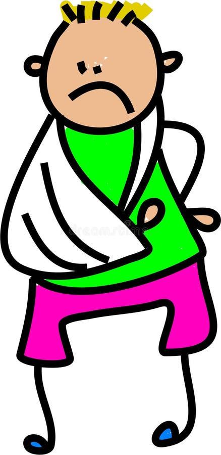 Injured kid vector illustration