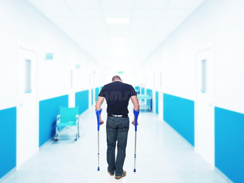 Injured man stock photo