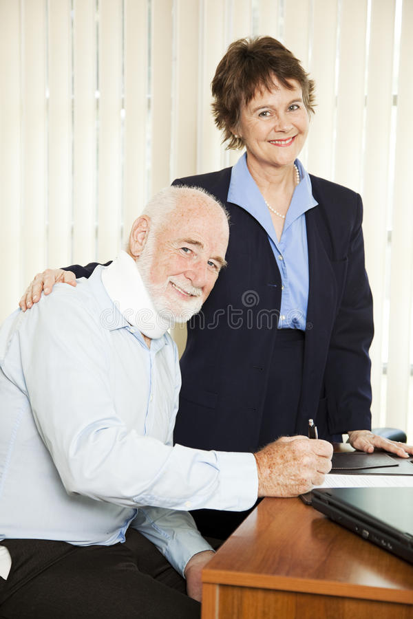 Download Injured Man with Lawyer stock photo. Image of finance - 16170706