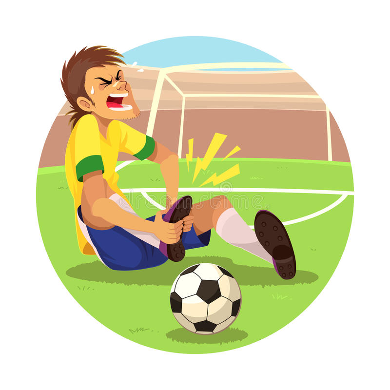 Injured Soccer Player vector illustration