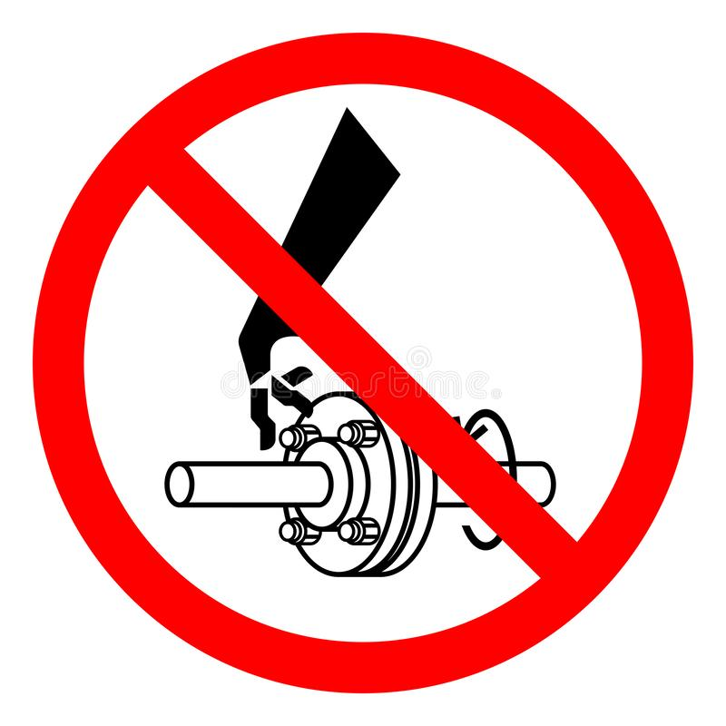 Injury Hazard Cutting of Fingers Rotating Shaft Symbol Sign, Vector Illustration, Isolate On White Background Label .EPS10 stock illustration