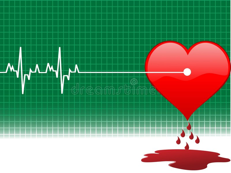 Download Injury in heart stock illustration. Image of heart, injury - 5463719