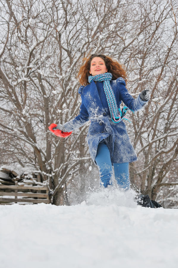 Inkörd wintergarden för flicka royaltyfri fotografi