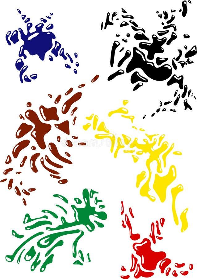 Ink stock illustration