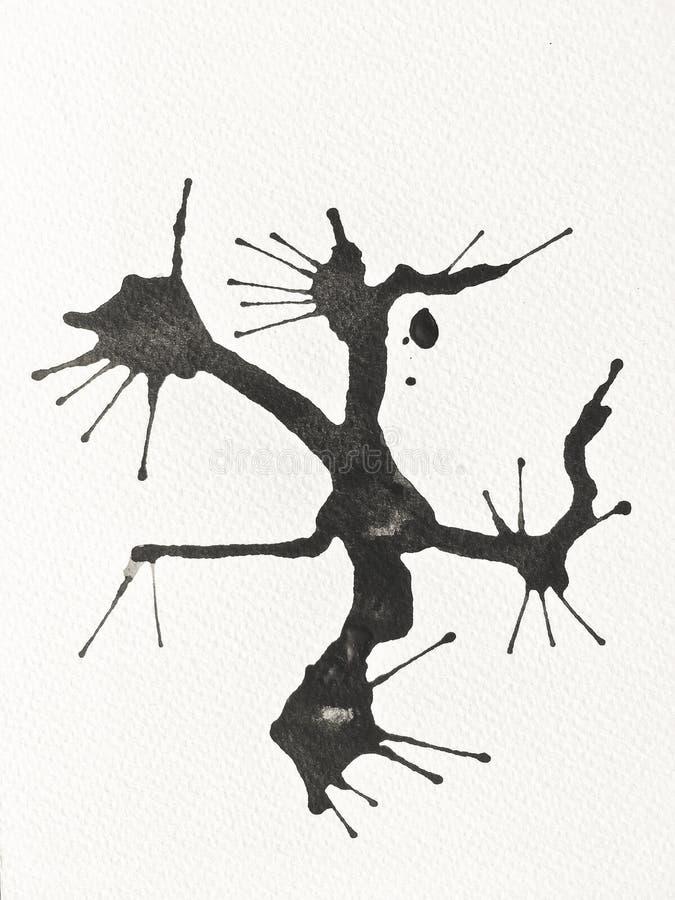 Black Ink Color on Paper art. vector illustration